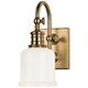 Hudson Valley Keswick 11 inch High Aged Brass Wall Sconce