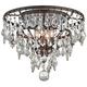 Meritage 20 inch Wide 4-Light Mercury Crystal Ceiling Light