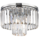 Palacial 12 inch Wide Chrome and Crystal Glass Ceiling Light
