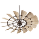 60 inch Quorum Windmill Oiled Bronze Damp-Rated Ceiling Fan