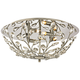 Crystique 17 inch Wide Polished Chrome 4-Light Ceiling Light