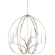 Tilbury 30 1/4 inch Wide Polished Nickel 9-Light Chandelier