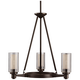Circolo Collection 22 inch Wide Olde Bronze Chandelier
