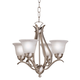 Kichler Four Light 18 inch Wide Brushed Nickel Finish Chandelier