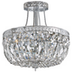 Crystorama Traditional 12 inch High Chrome Crystal Ceiling Light