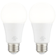100 Watt Equivalent Tesler Frosted 16W LED Dimmable 2-Pack