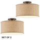 Adams Burlap Drum Shade Ceiling Lights Set of 2