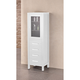 London 66 inch High Pure White Wood Linen Tower