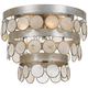 Coco 13 3/4 inch Wide Silver and Capiz Shell Ceiling Light