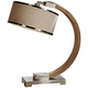 Uttermost Metauro Wood Arc Desk Lamp
