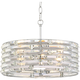 Possini Euro Ebbets 18 1/4 inch Wide Chrome Round Pendant Light