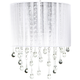 Avenue Beverly Dr. 14 inch High White Silk String Wall Sconce