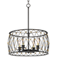 Dellroy 20 inch Wide Bronze 4-Light Pendant Light