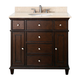 Avanity Windsor 36 inch Wide Walnut Vanity Combo