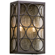 Bacchus 14 inch High Textured Bronze Outdoor Wall Light