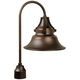 Union 21 1/4 inch High Gilded Oiled Bronze Outdoor Post Light