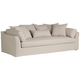 Chateau 99 inch Wide Linen Fabric Slipcover Sofa