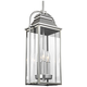 Wellsworth 8 1/2 inch High Brushed Steel 3-Light Hanging Light