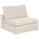 Skye Classic Natural Linen Modular Armless Chair