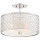 Quoizel Platinum Collection Verity 15 inch Wide Chrome Ceiling Light