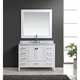 London 48 inch Marble White 9-Drawer Single Sink Vanity Set