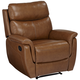 Slater Brown Leather Recliner Chair