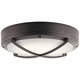Kichler Verne 11 inch Wide Textured Bronze LED Outdoor Ceiling Light