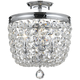 Archer 11 1/2 inch Wide Chrome Hand-Cut Crystal Ceiling Light