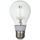 50W Equivalent Tesler Clear 4W LED Dimmable Standard Bulb