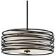 Quoizel Spiral 20 inch Wide Mystic Black Pendant Light