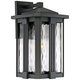 Quoizel Everglade 18 inch High Earth Black Outdoor Wall Light