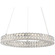 Platinum Infinity 20 inch Wide Polished Chrome LED Pendant Light