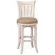 Bayberry 30 inch Off-White Woven Fabric Swivel Barstool