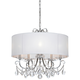 Crystorama Othello 24 inch Wide Chrome 5-Light Crystal Chandelier