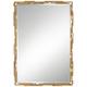 Sharice Gold Leaf Iron-Slat 28 1/4 inch x 40 1/4 inch Wall Mirror