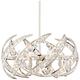 Platinum Crescent 24 1/2 inch Wide Nickel 6-Light Pendant Light