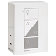Caseta White Plug-In Dual Lamp Dimmer