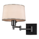Real Simple Gunmetal Finish Plug-In Swing Arm Wall Lamp