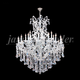 Maria Theresa Royal 46 inch Wide Silver 25-Light Crystal Chandelier