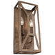 Marquelle 16 inch High 2-Light Distressed Gold Leaf Wall Sconce