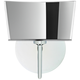 Besa Groove 8 inch High Chrome Mirror-Frost LED Wall Sconce