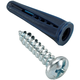 #8-10 x 7/8'' Plastic Wall Anchors with Screws