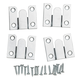Extra-Thin Flush Mount Brackets, 1-1/2'' x 1-7/8''