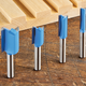 Rockler 4-Piece Straight Bit Set - 1/4