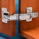 Full Overlay Blum® 170° Snap Close Clip Top Frameless Hinges, Pair
