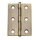Narrow Miniature Solid Brass Hinges with  Button Tip Pin