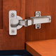 Salice® Push Frameless Self-Opening Overlay Door Hinge