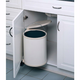 Single Round Pivot-Out Metal Waste Containers, Rev-a-Shelf 8-010 Series
