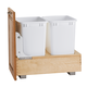 Single and Double Pullout Waste Containers, Rev-a-Shelf 4WC Series