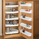 D-Shape 5 Shelf Corner Lazy Susans, Rev-a-Shelf 6265 Series